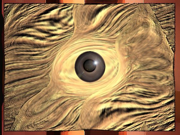 Eye Digital Art - Jurassic Eye by Aline Pottier  Gama Duarte