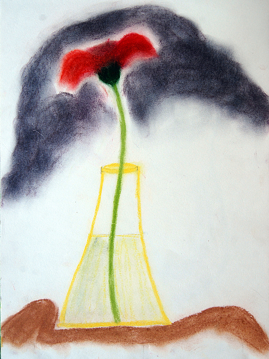 Flowers Painting - Just A Flower by Prasad Setty