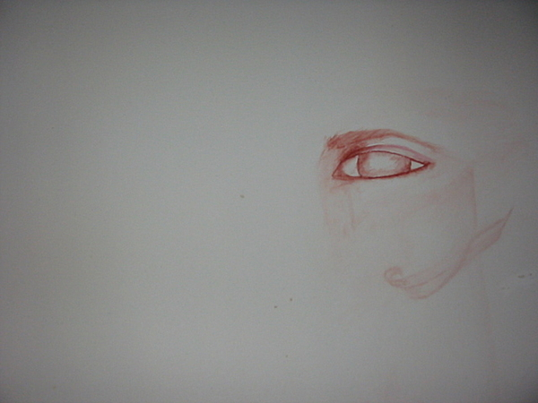 White Background Painting - Just An Eye by Marian Hebert