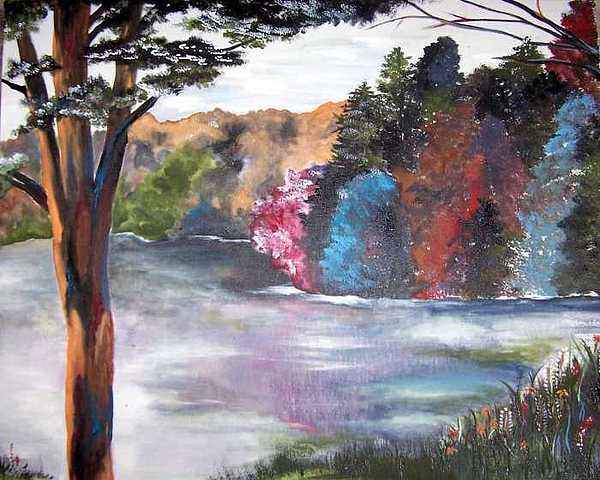 Tree Painting - Just Around The Bend by Amanda  Sanford