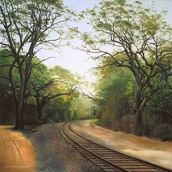 Florida Painting - Just Around The Bend by Keith Martin Johns