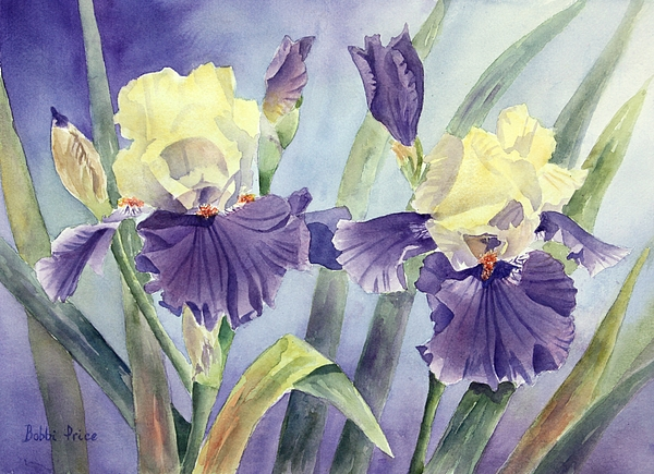 Watercolor Painting - Just The Two Of Us by Bobbi Price
