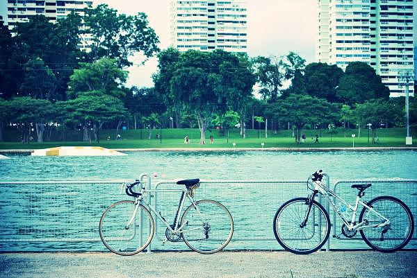 Bike Photograph - Just The Two Of Us by Susette Lacsina