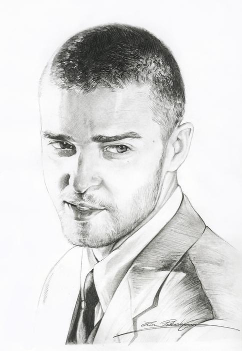 Justin Timberlake Drawing - Justin Timberlake Drawing by Lin Petershagen