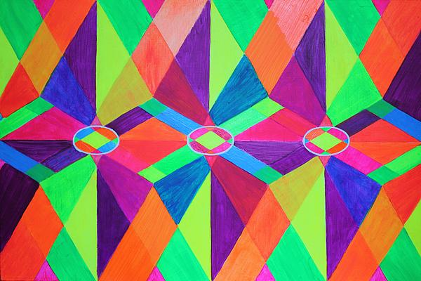 Kaleidoscope Painting - Kaleidoscope Wise by Ann Sokolovich