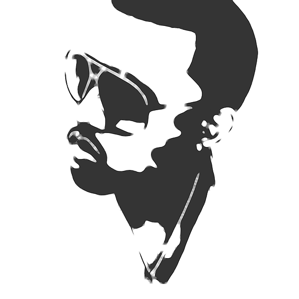 Kanye West Silhouette Mixed Media by Dan Sproul