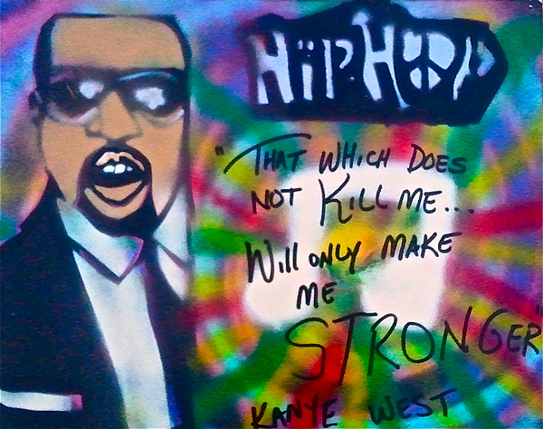 Hip Hop Painting - Kanye West Stronger by Tony B Conscious