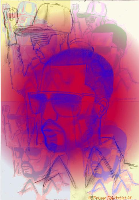 Computer Digital Art - Kanye West Swag  by HPrince De Artist