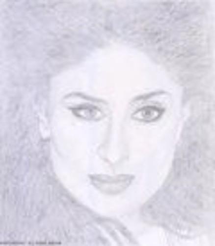 Celebrity Drawing - Kareena Kapoor by Smriti Jaiswal