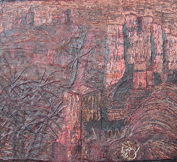 Kasbah 03 2008 Relief by Mohamed-Hosni Belkorchi