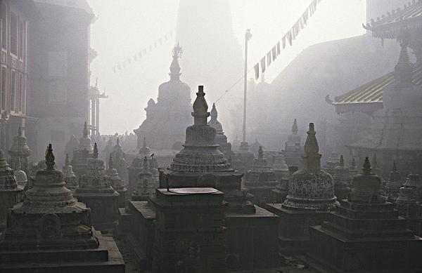 Horizontal Photograph - Katmandu Temple,nepal by David Edwards