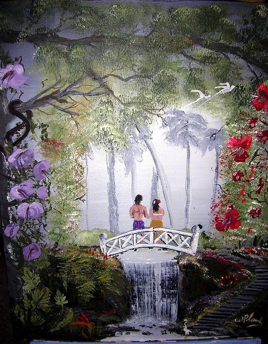 Jungle Painting - Kauai Neptuals by William Plank