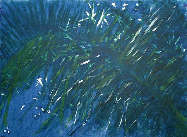 Palm Painting - Kauai Night by Adrian Simpson
