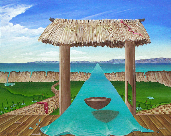 Kava Painting - Kava Flow by Sharon Ebert