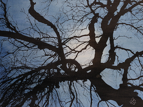 Abstract Mixed Media - Kedamaian by Arnuda