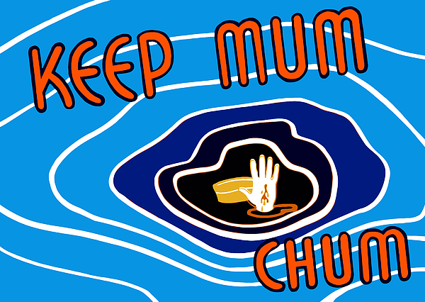 Wwii Propaganda Mixed Media - Keep Mum Chum by War Is Hell Store