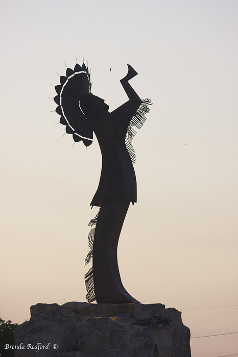 Keeper Of The Plains Photograph - Keeper Silhouette  by Brenda Redford