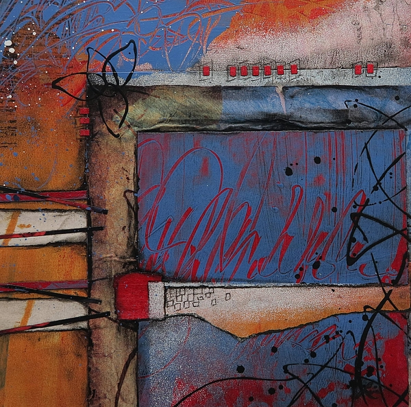 Collage Mixed Media - Keeping It Together by Laura Lein-Svencner