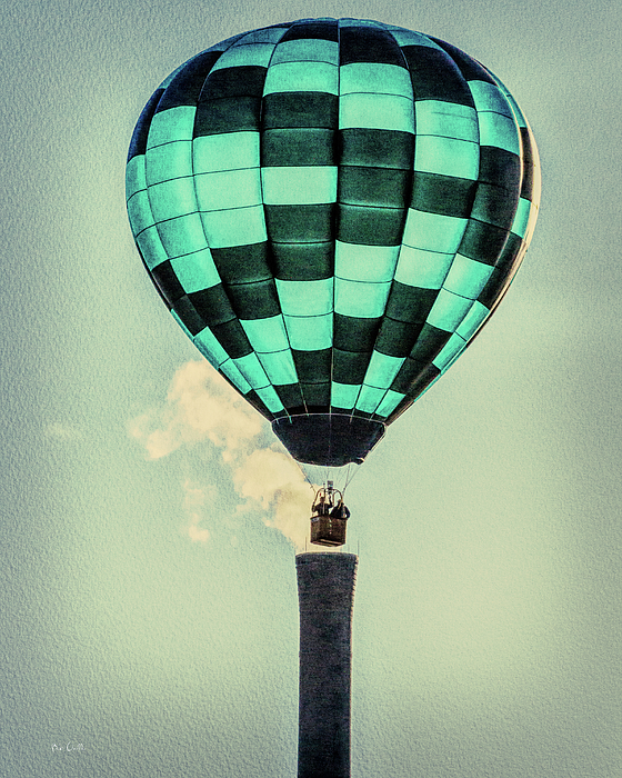 Smoke Stack.hot Air Balloon Photograph - Keeping Warm As You Float by Bob Orsillo