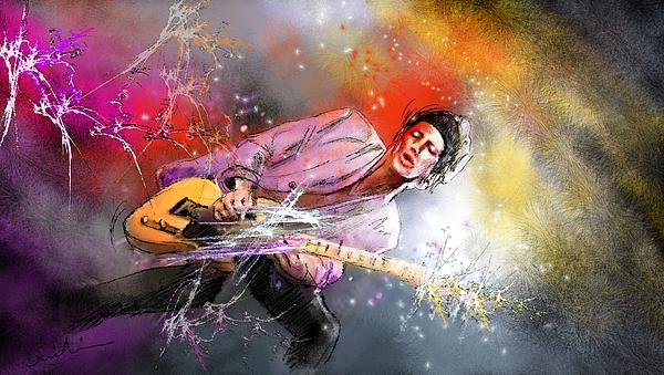 Keith Richards Painting - Keith Richards 02 by Miki De Goodaboom