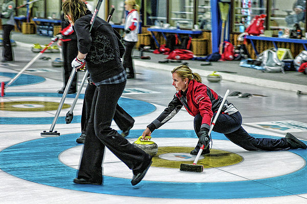 Curling Photograph - Kelly Law In The Hack by Lawrence Christopher