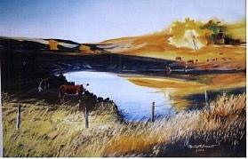 Lake Painting - Kenneth Bassett by Kenneth Bassett