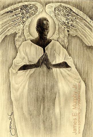 Drawing Drawing - Kente Wings by James  Murphy  Jr
