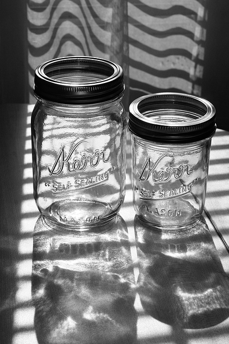 Glass Photograph - Kerr Jars by Steve Augustin