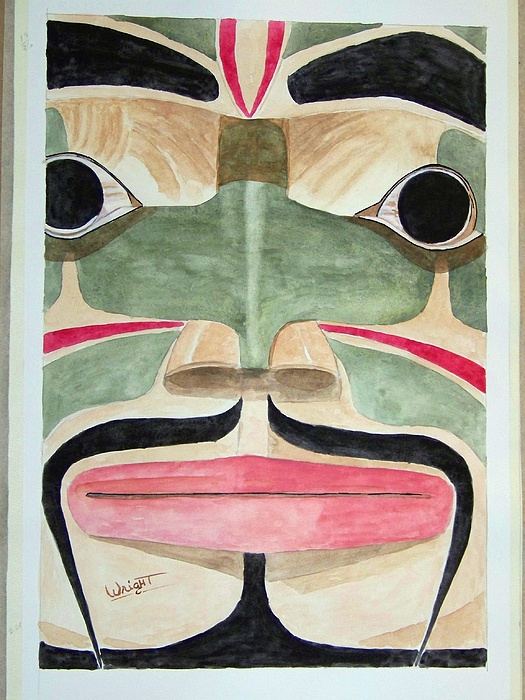 Tlingit Indians Painting - Ketchikan Native by Larry Wright