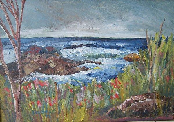 Seascape Painting - Kettle Cove by Joseph Sandora Jr