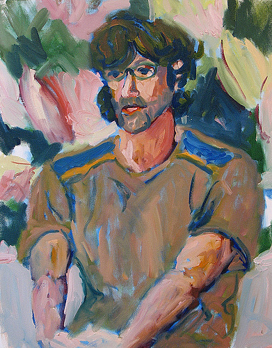 Portrait Painting - Kevin Broad by Thom Duffy