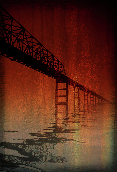 Bridge Photograph - Key Bridge Artistic  In Baltimore Maryland by Skip Willits
