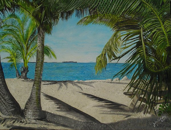 Key West Painting - Key West Clearing by John Schuller
