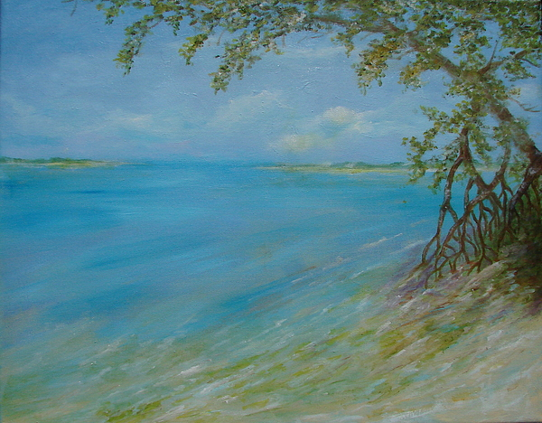 Beach Painting - Key West Hanging Out by Phyllis OShields