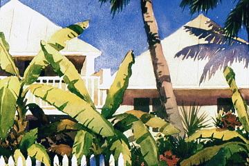 Tropical Painting - Key West Skyline by Faye Ziegler