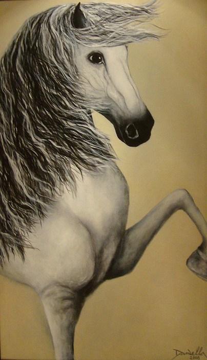 Horses Painting - Khalifa by Daniella Arteaga Vallarino Artist
