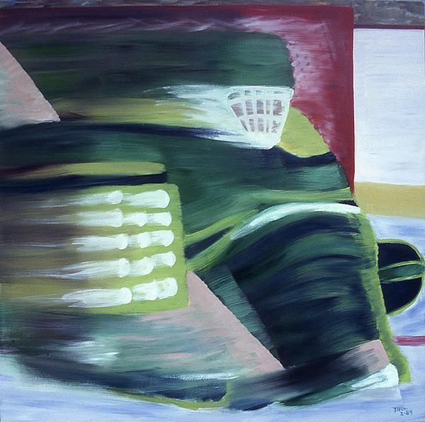Hockey Painting - Kick Save by Ken Yackel