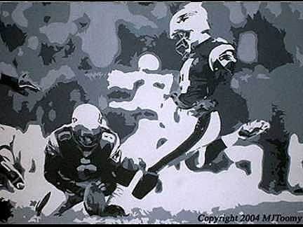 Football Painting - Kicking Snowballs by Michael James Toomy