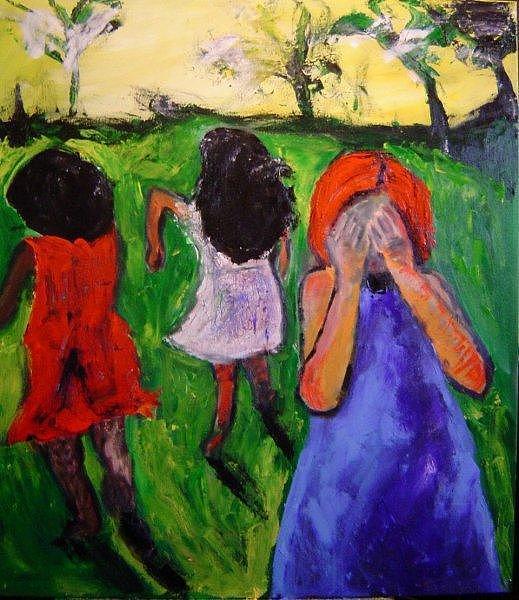 Kids Painting - Kids by Marcia Pinho
