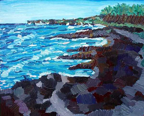 Impressionistic Painting - Kiholo by Patrice Tullai