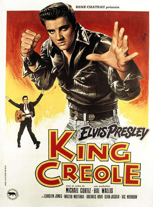 1958 Movies Photograph - King Creole, Elvis Presley, 1958 by Everett