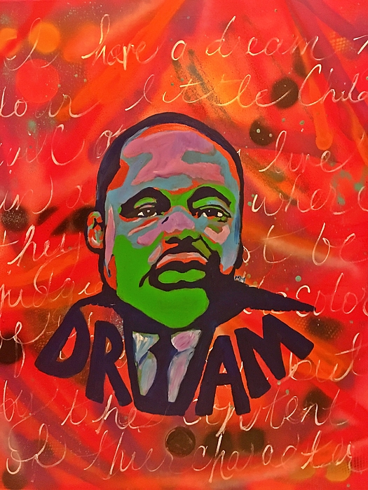 Martin Luther King Painting - King Dreaming by Miriam Moran