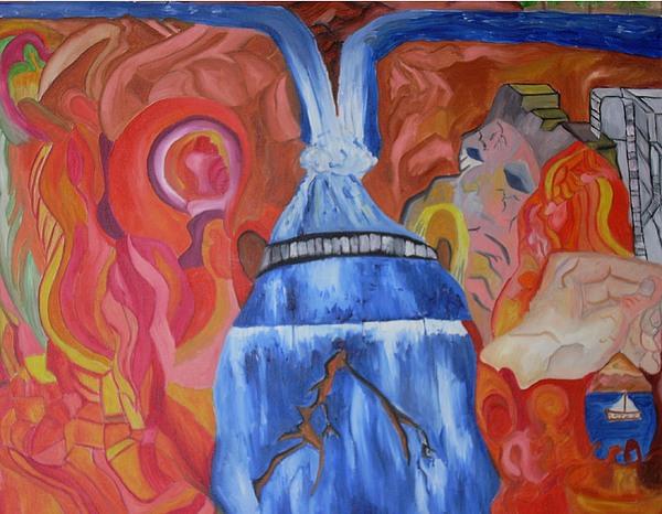 King Falls Painting by Joseph  Arico