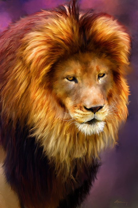 Pet Portraits Painting - King by Michael Greenaway