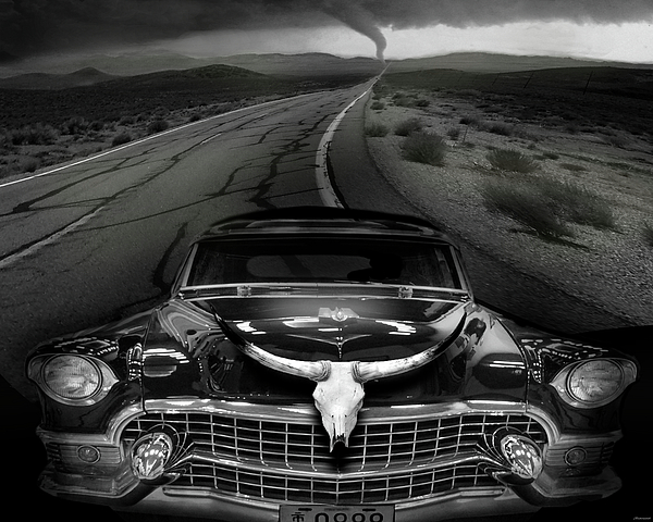Surrealism Digital Art - King Of The Highway by Larry Butterworth