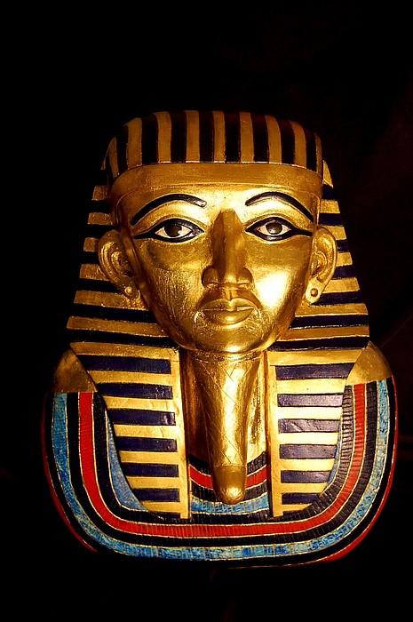 Wood Carving Sculpture - King Tutankhamun  by Owen Lohrenz