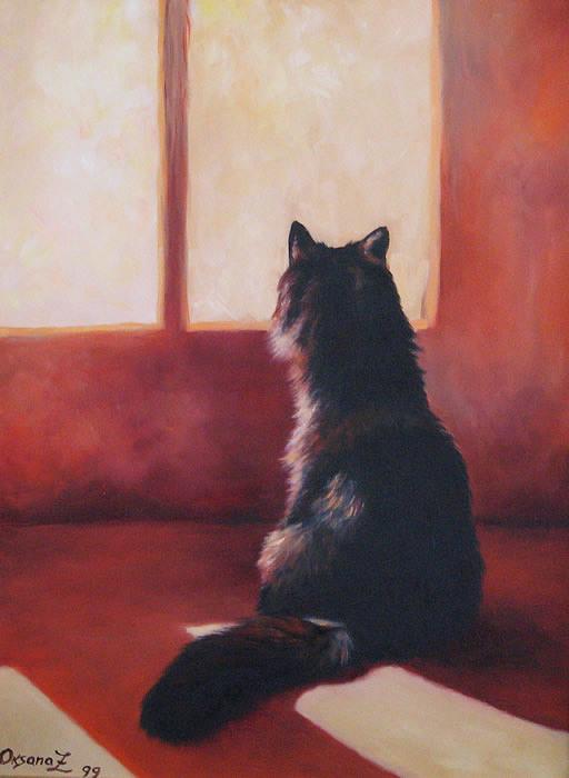 Cat Painting - Kisa by Oksana Zotkina