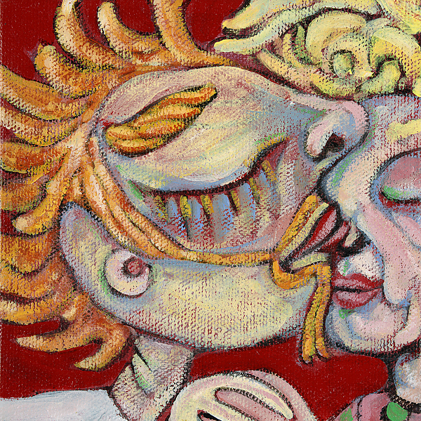Kissing Painting - Kiss On The Nose by Michelle Spiziri