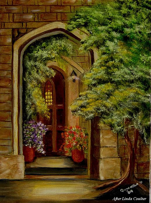 Door Painting - Knights Door by Quwatha Valentine