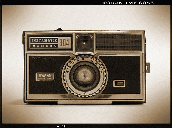 Vintage Kodak Camera Photograph - Kodak Instamatic Camera by Mike McGlothlen